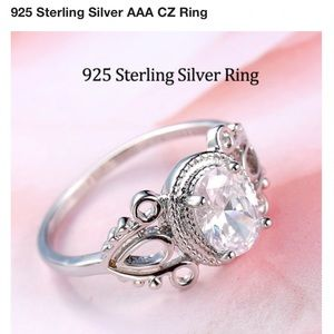 New Sterling silver cubic zircornia grade AAA ring